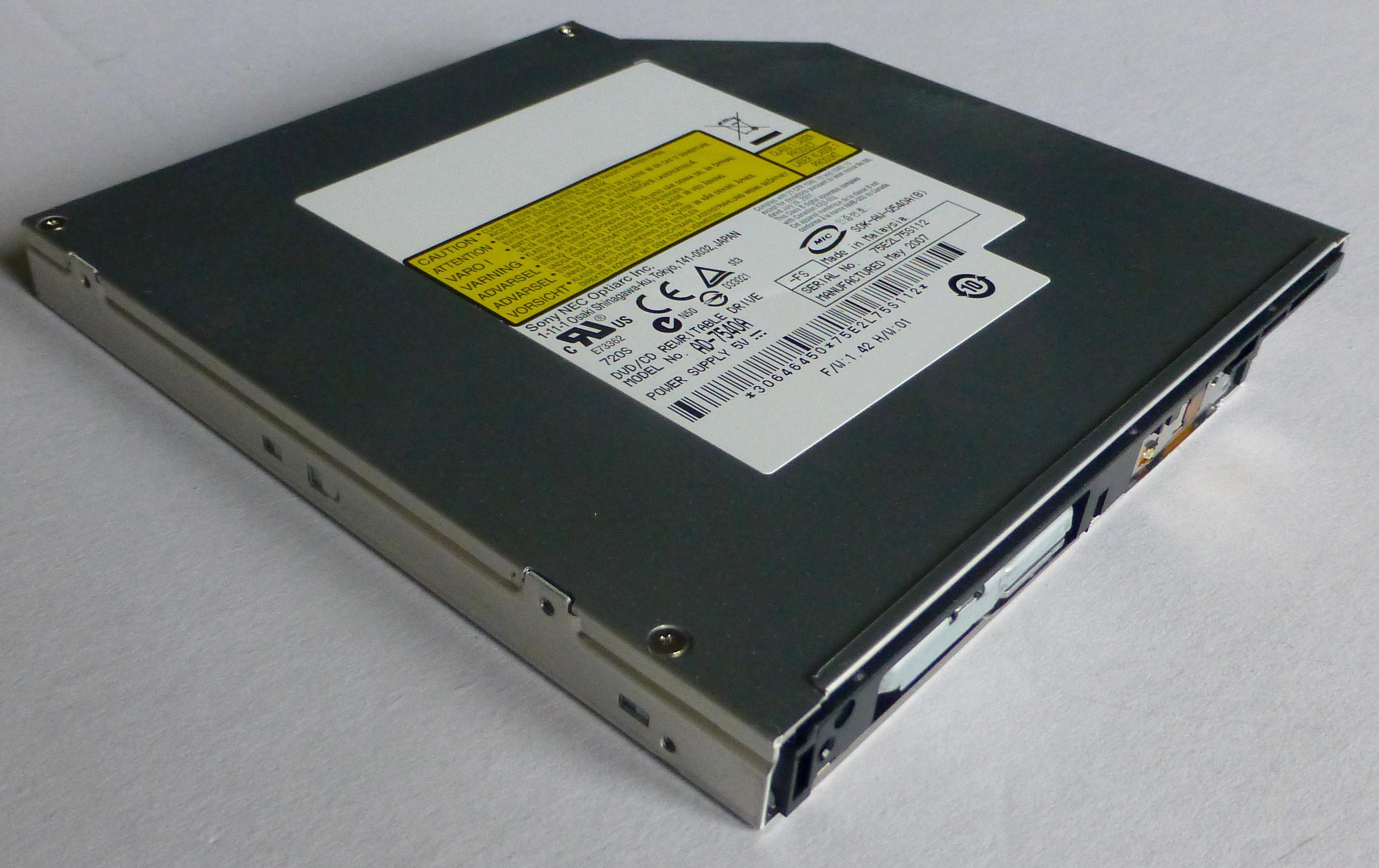 Dvd rw ad-7561a ata device