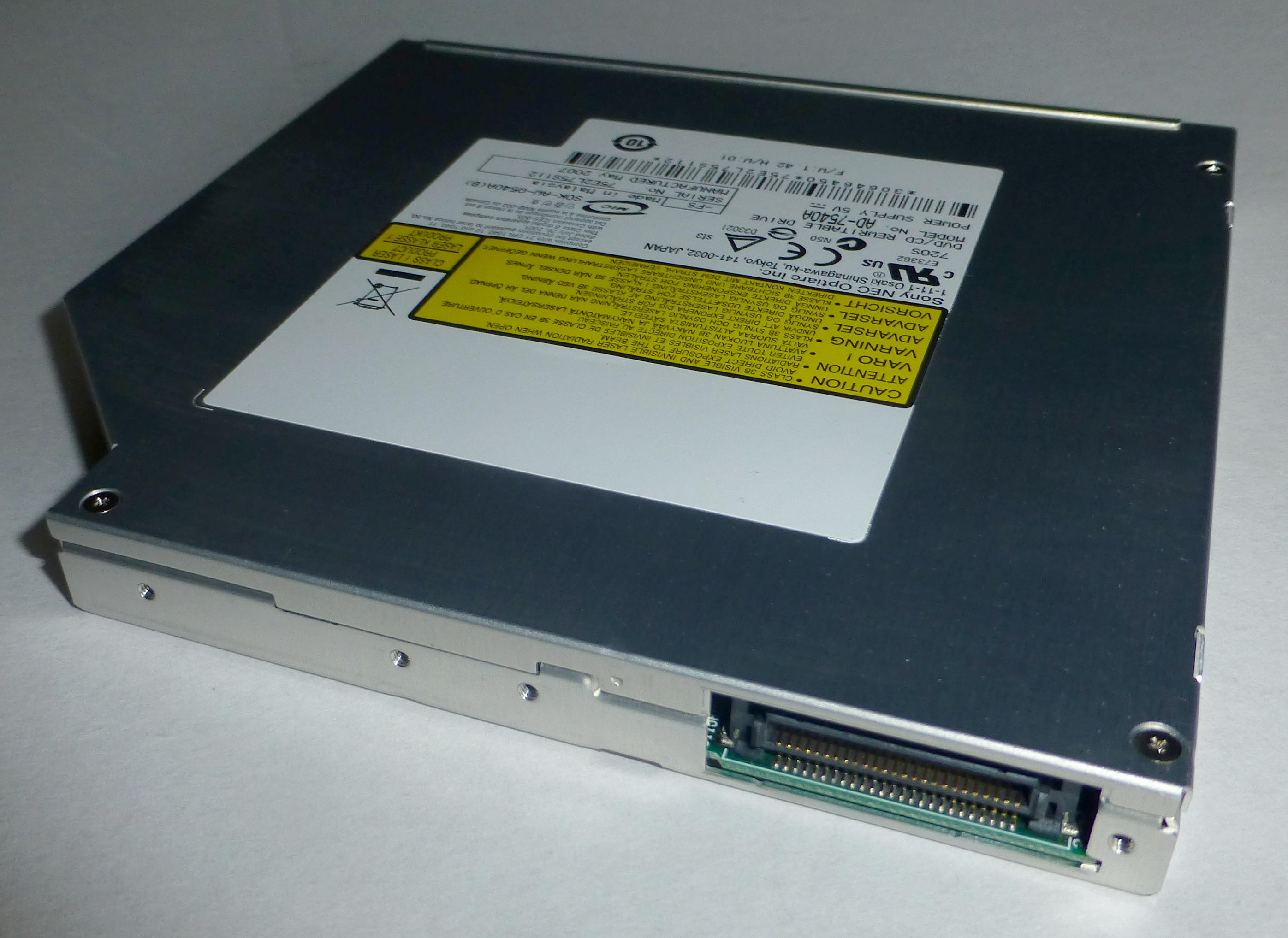 Optiarc dvd rw ad-7585h ata device